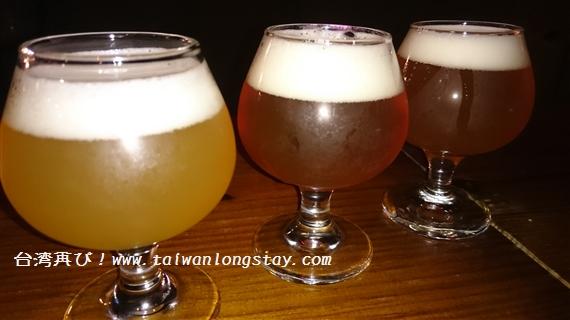 Beer&CheeseSocialHouseでPizzaportのIPA3種類のflight
